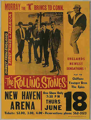1964 rolling stones concert poster
